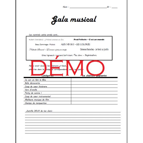 Appréciation Gala Musical