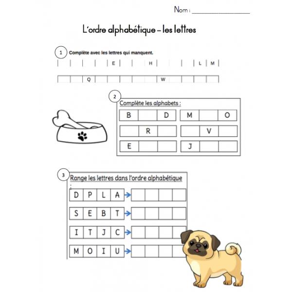 Ordre alphabétique
