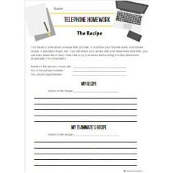 Telephone homework: The recipe