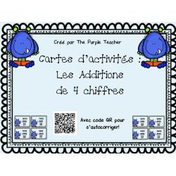 Additions de 4 chiffres (40 cartes) avec code QR