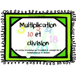 Cartes d'activités : Multiplication et Division