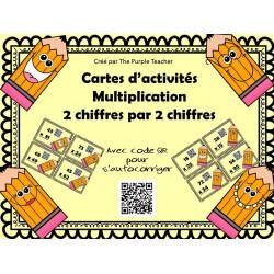 Multiplication de 2 chiffres avec code QR