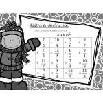 Cartes à tâches : Additionner des fractions