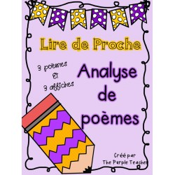 Analyser des poèmes : 3 poèmes et affiches