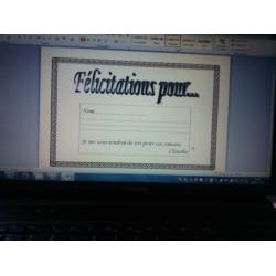 Certificat de fin d'année