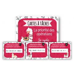 Cartes à tâches sur la priorité d'opérations