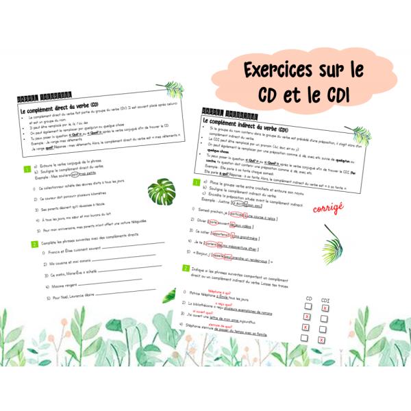 Exercices CD et CDI