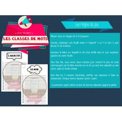 Scattegories: Les classes de mots (adjectifs+noms)