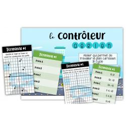 Contrôleur aérien - Plan cartésien 3e CYCLE