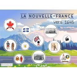 Jeu US - Nouvelle-France 1645 4e année