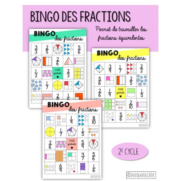 Bingo des fractions - 2e cycle