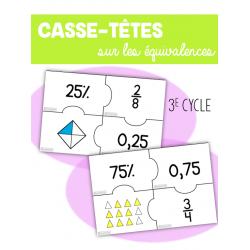 Casse-têtes des équivalences - 3e cycle
