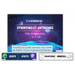 À la recherche des synonymes et antonymes