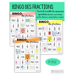 Bingo des expressions équivalentes - 3e cycle