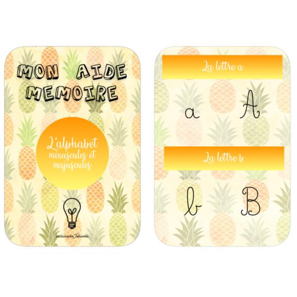 Aide-mémoire sur l'alphabet