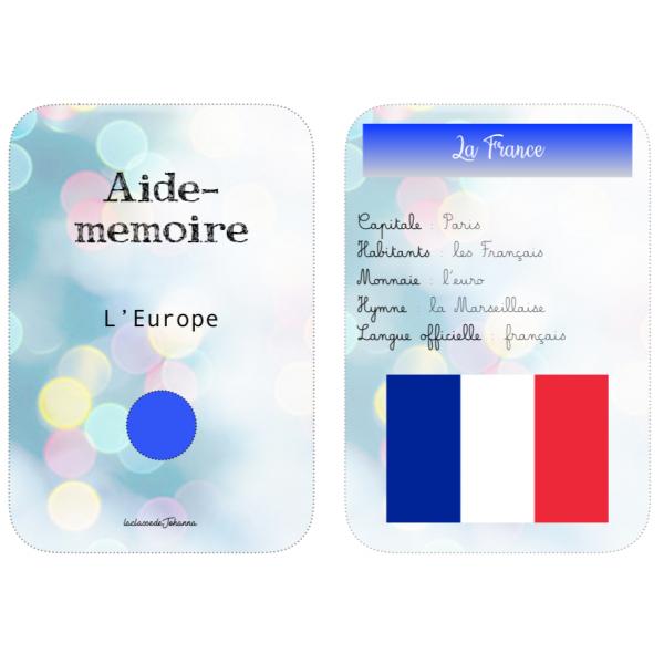 Aide-mémoire sur l'Europe