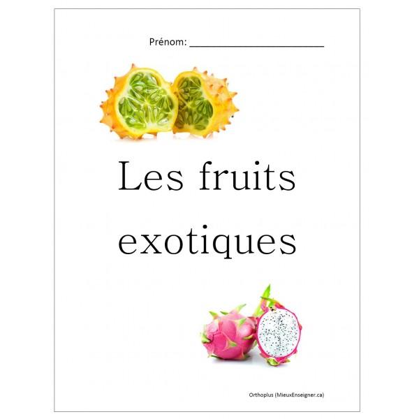 Cahier d'exercices; Les fruits exotiques