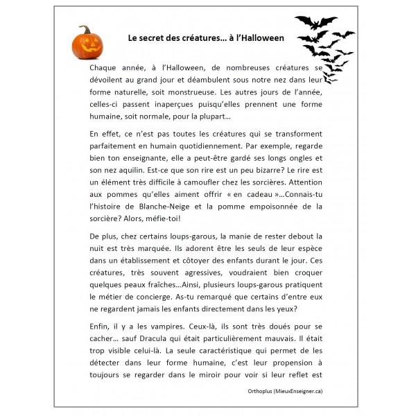 Trousse Le secret des créatures à l'Halloween