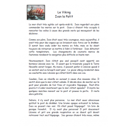 Compréhension de lecture, Ivan le Petit Viking