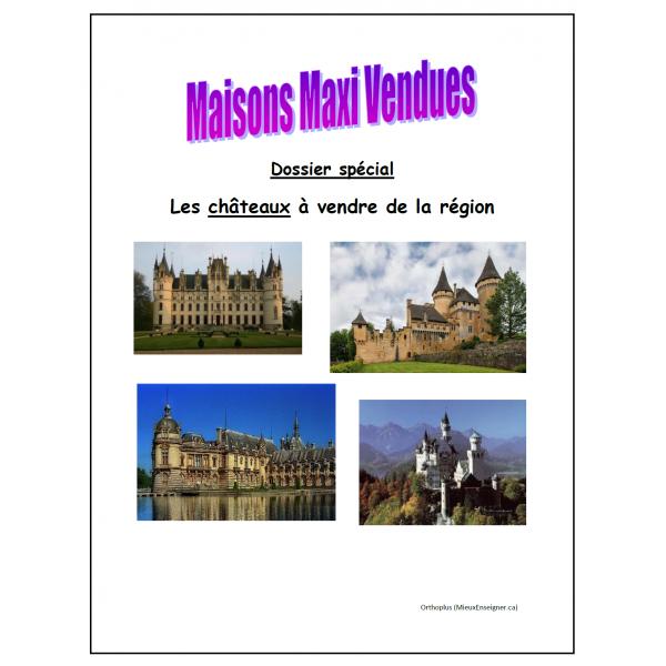 Écriture Un château à vendre
