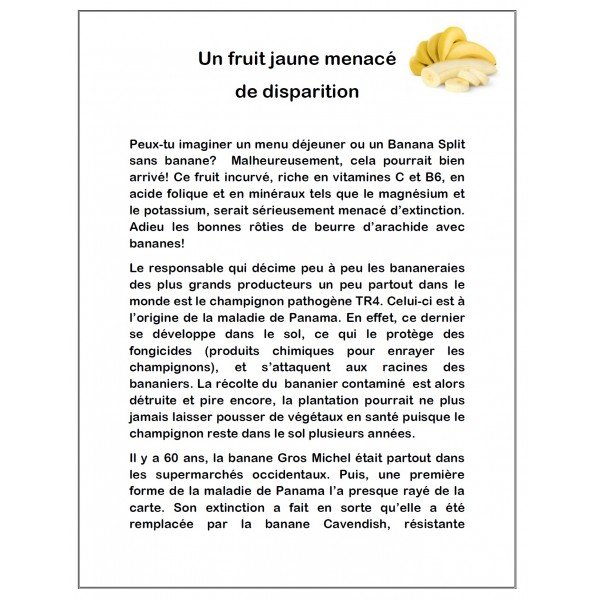 Un fruit jaune menacé de disparition