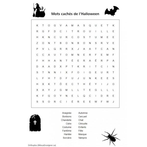 Mots cachés de l'Halloween