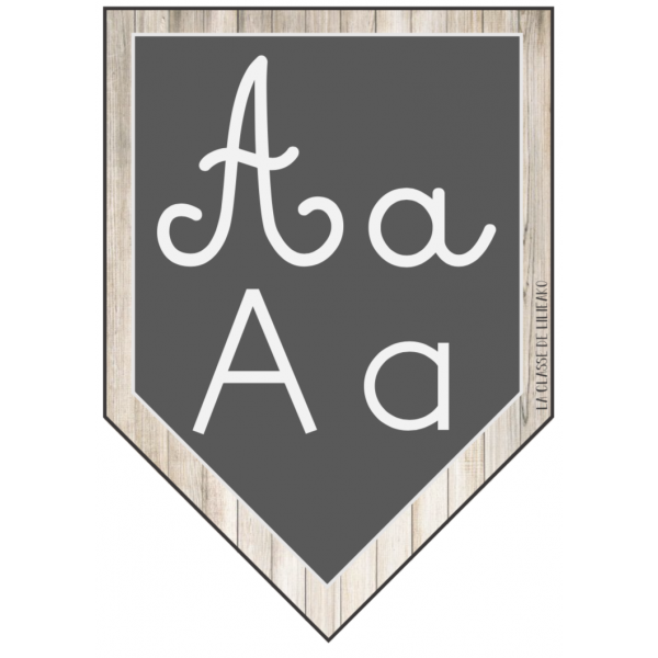 Affiches Alphabet A4