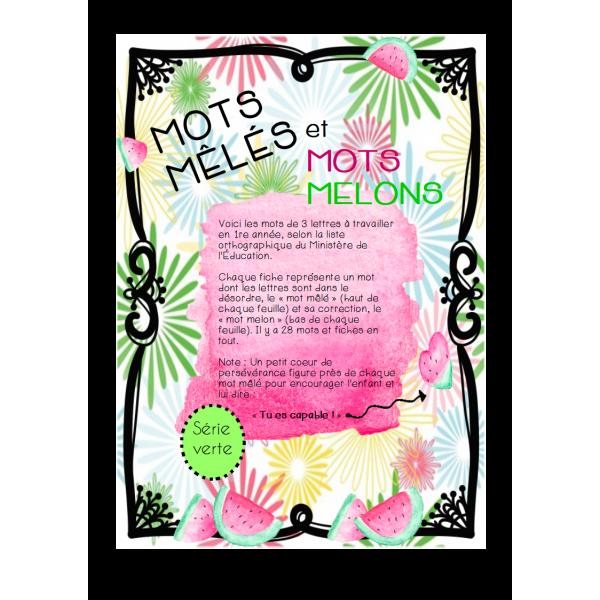 MOTS MÊLÉS ET MOTS MELONS - 1re majuscules