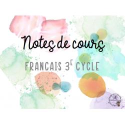 Français enseignement SANS CAHIER - Notes de cours