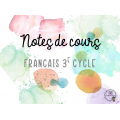 EXTRAIT - Français SANS CAHIER - Notes de cours