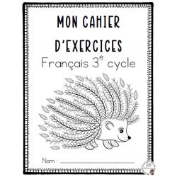 Cahier exercices français 3e cycle