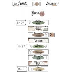Minimaliste - Affichage classe - menu du jour