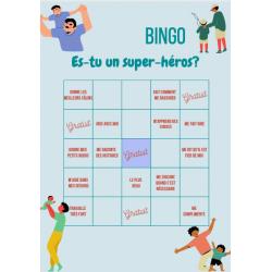Fêtes des pères - Bingo d'un super-héros