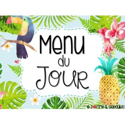 Menu du jour tropical modifiable