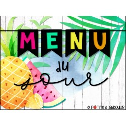 Menu du jour fruité tropical modifiable