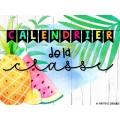 Calendrier tropical fruité modifiable