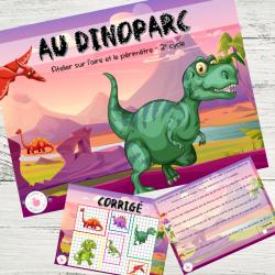 Au Dinoparc - jeu sur l'aire et le périmètre