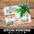 Affiche et banderole « Bienvenue » tropicales 2.0