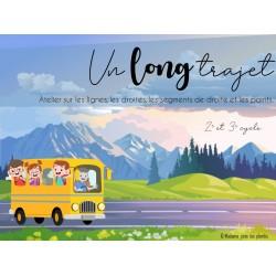 Un long trajet - Lignes, droites, segments