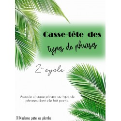 Casse-tête Types de phrases