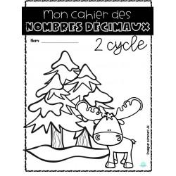Cahier des nombres décimaux 2 cycle
