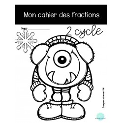 Cahier des fractions 2 cycle