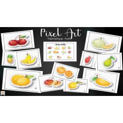 Pixel Art - Thématique fruits