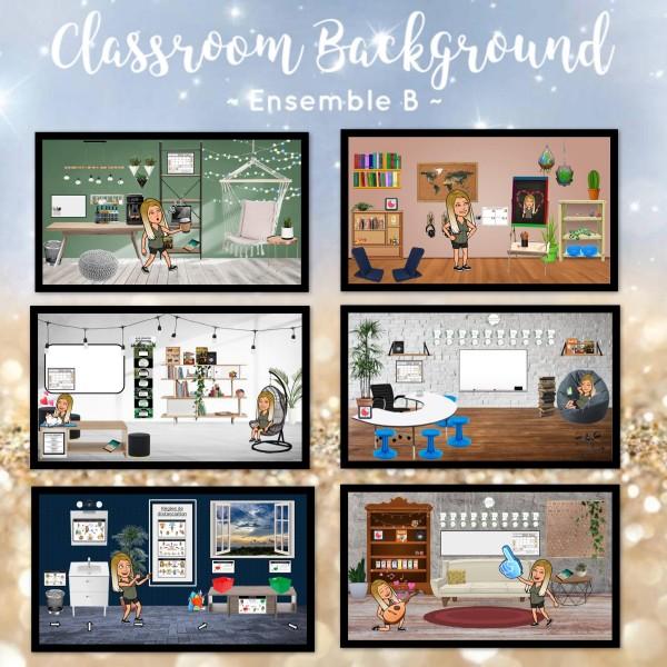 Bitmoji Classroom Decor - Scène de classe (B)