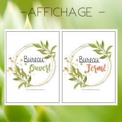 Affichage - Bureau ouvert/fermé (plante)