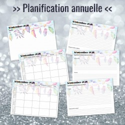 Planification annuelle (CANVA) - Modifiable