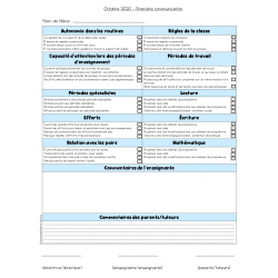 1re communication (interétape) - Canva à remplir