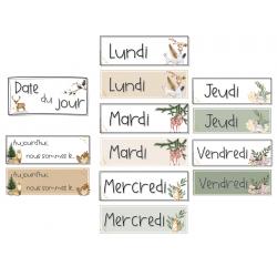 Date du jour (Calendrier) - Animaux de la forêt