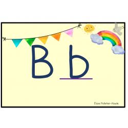 Alphabet thème arc-en-ciel script