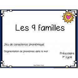 9 familles conscience phonémique